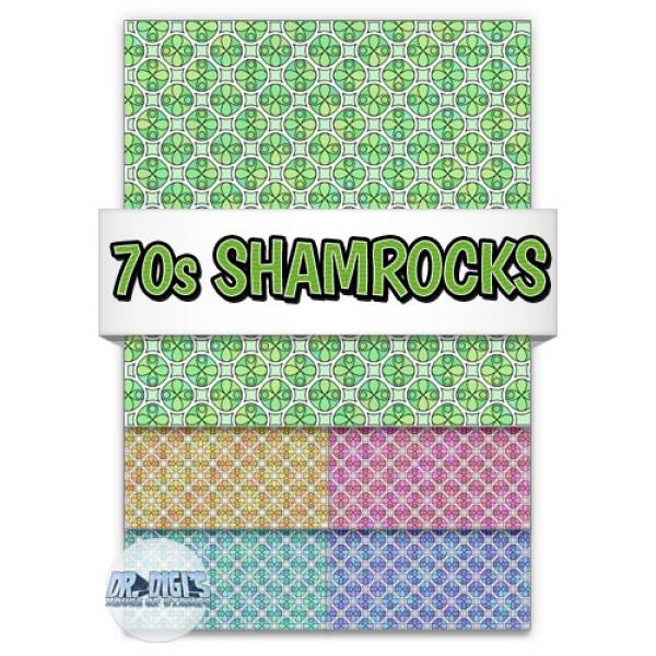 70s Shamrocks Backing papers