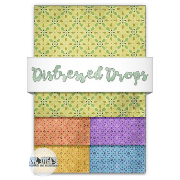 Distressed Drops Backing paper