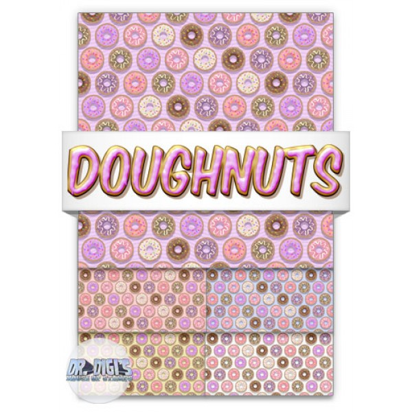 Doughnuts Backing Paper