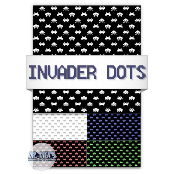 Invader Dots Backing Paper