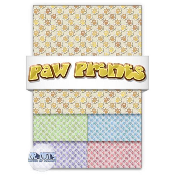 Paw Prints Backing paper