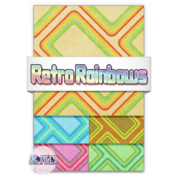 Retro Rainbows Backing Paper