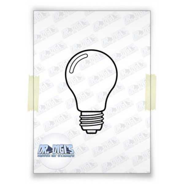 Lightbulb free digital stamp