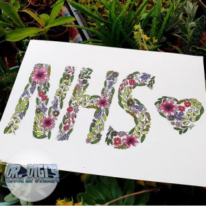 Free NHS A4 Colouring page by Jane Clempson