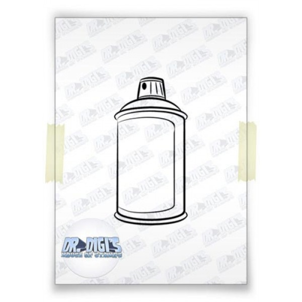 Spray Can free digital stamp