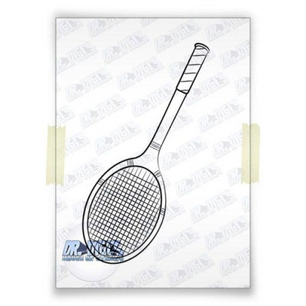 Tennis Racket free digital stamp