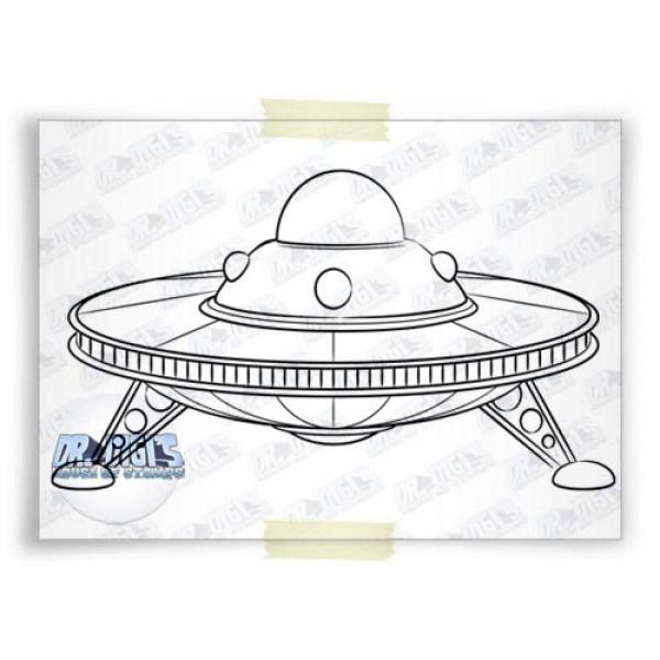 UFO free Digital stamp