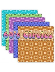 60s Circles  Backing Paper