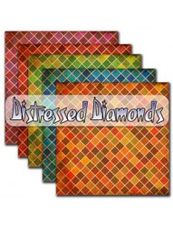 Distressed Diamonds  Backing Paper