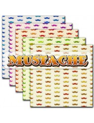 Mustache backing paper