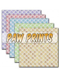 Paw Prints Backing paper
