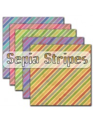 Sepia Stripes Backing Paper