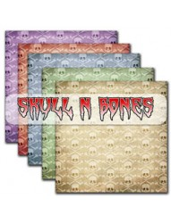 Skull N Bones Halloween Backing Paper