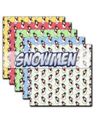 Snowmen backing paper