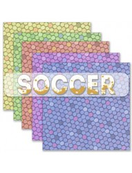 Soccer backing paper