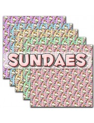 Sundaes Backing Paper