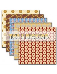 Tea & Bickies Backing Papers