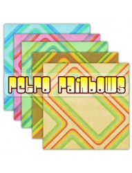 Retro Rainbows Backing Paper