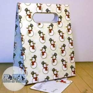 "Gift bag template ""Snowmen"""