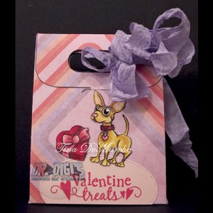 "Gift bag template ""PinkBows"""