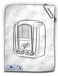 Valve Radio digital stamp